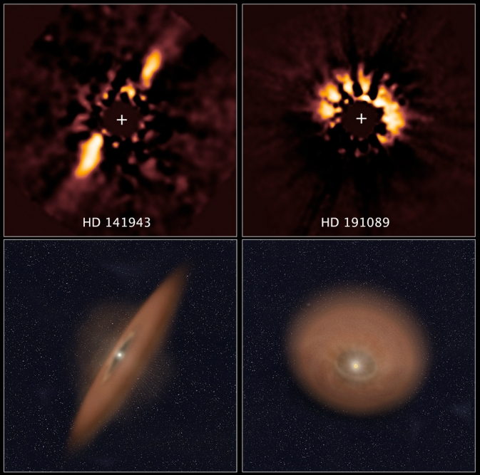 Happy Birthday Hubble: How Baby Planets Form from Gas Discs
