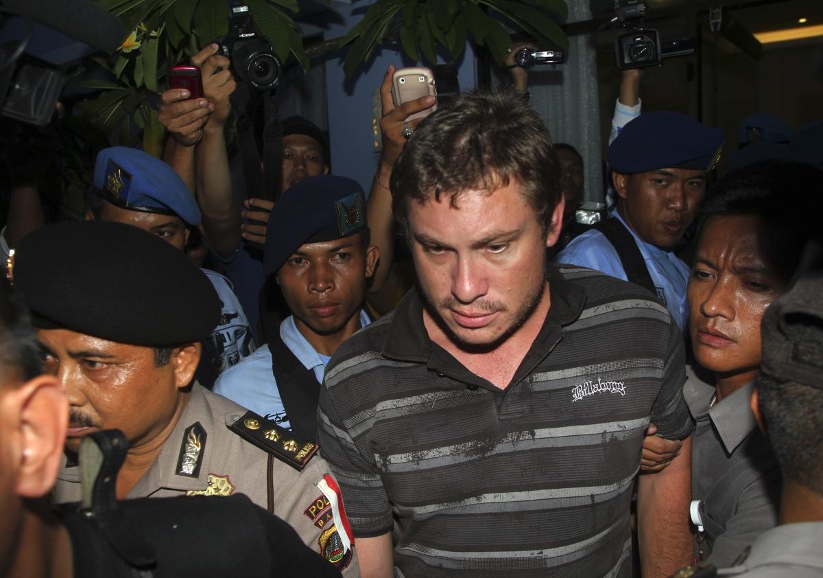 This is Matt Christopher, the man suspected of sparking a hijack alert after drunken antics on board on flight to Bali