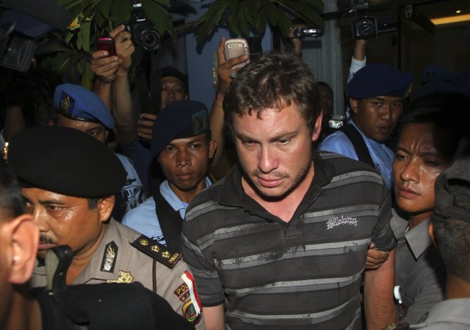 This is Matt Christopher, the man suspected of sparking a hijack alert after drunken antics on board on flight to Bali