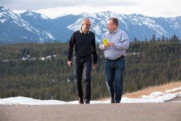 Satya Nadella and Stephen Elop - Microsoft Nokia deal