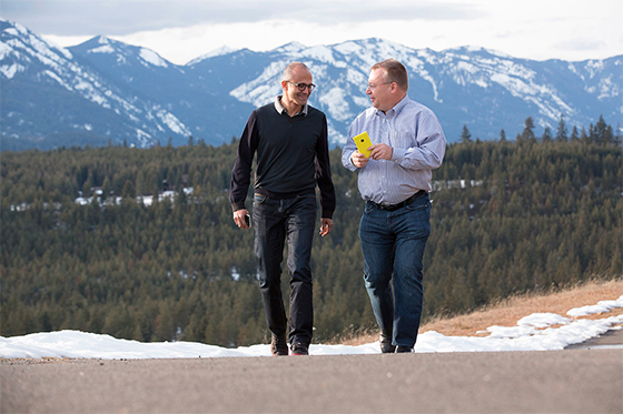 Satya Nadella and Stephen Elop - Microsoft Nokia deal