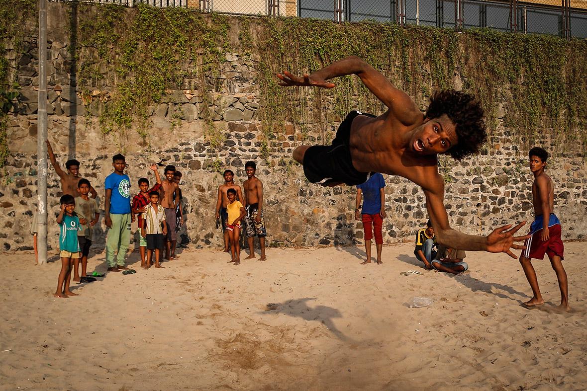 beach stunt