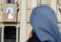 Some Catholics have interpreted Marco Gusmini\'s death as a bad omen ahead of Pope John Paul II\'s canonisation.