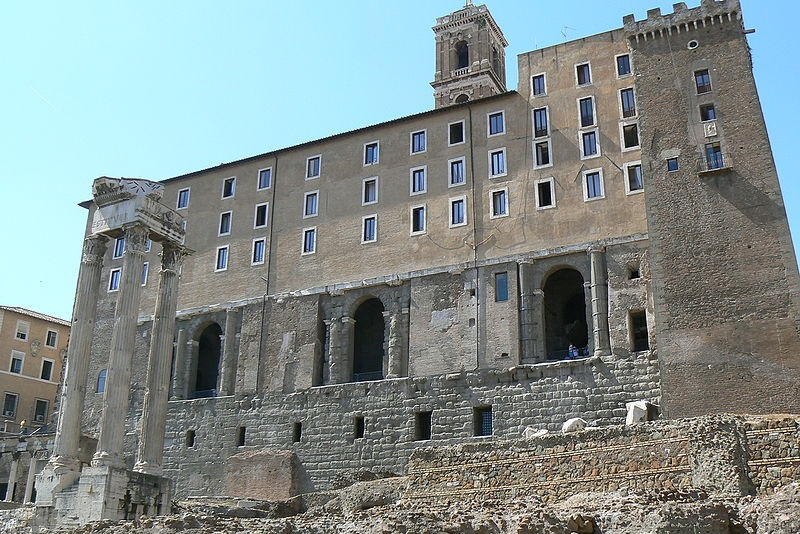 The Tabularium, a massive hall of records, still stands today