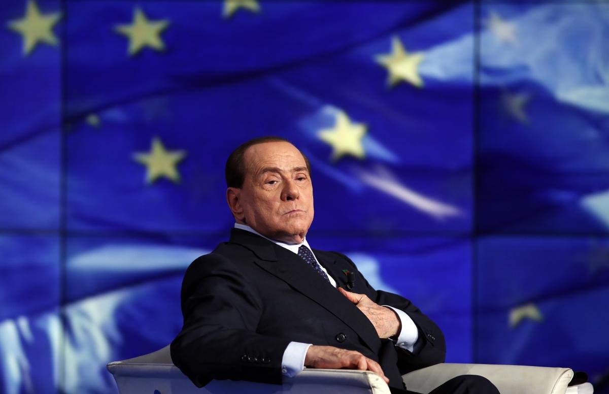 Berlusconi at an appearance on Italian TV in Rome last week.