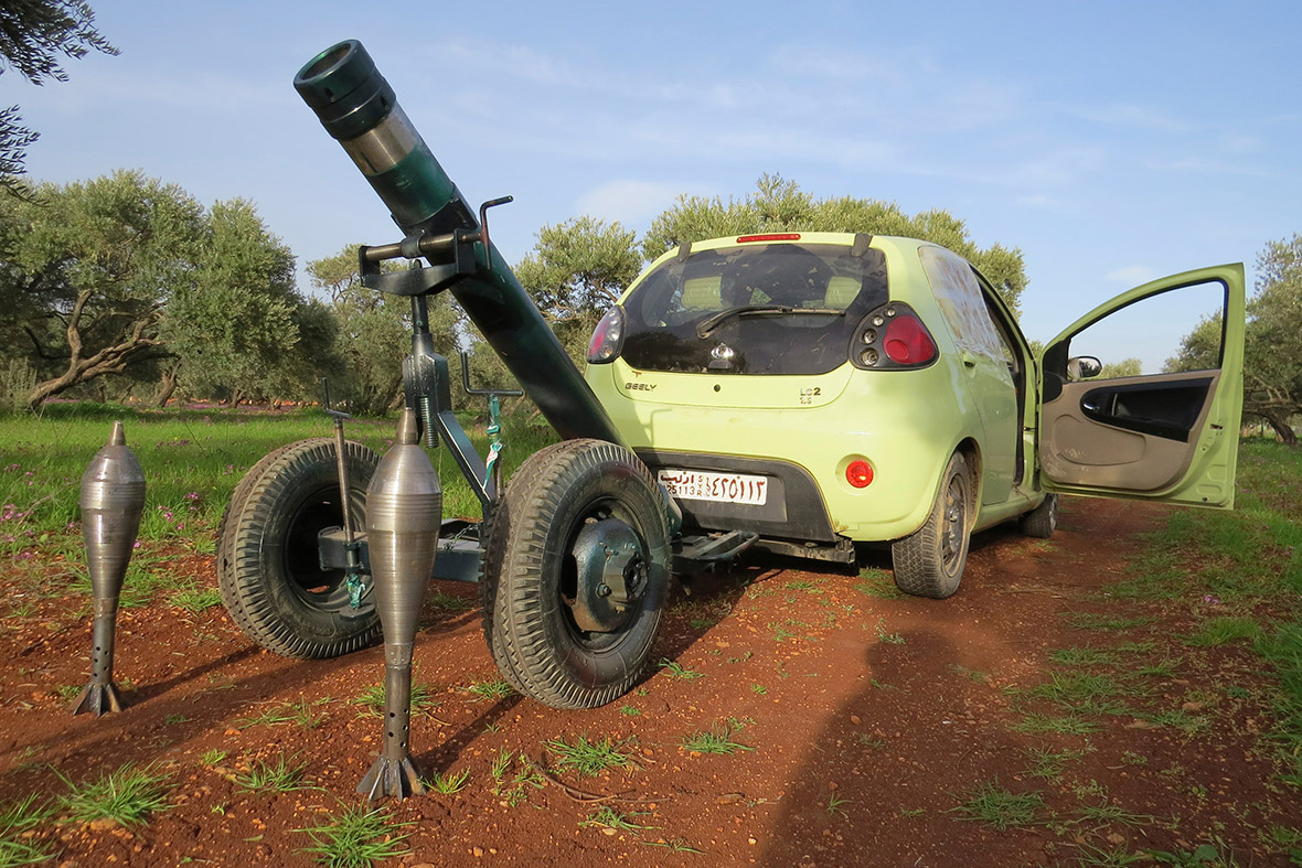 mortar car