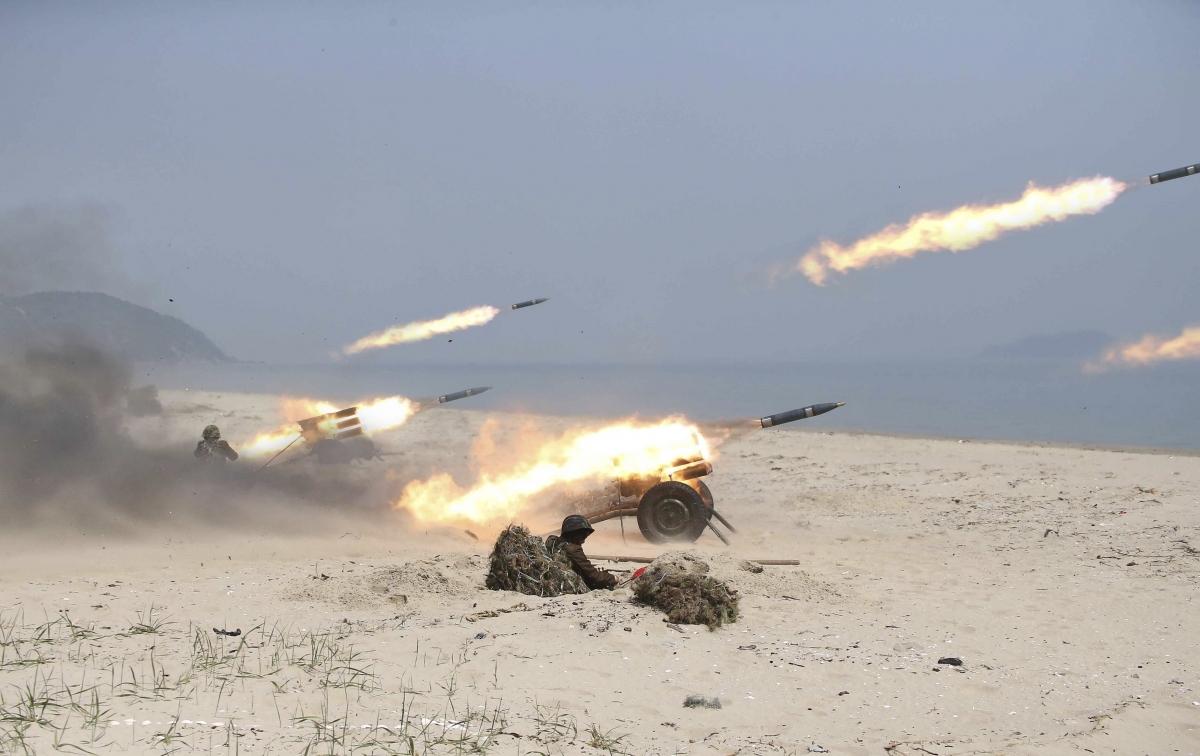 North Korean announces live-fire drill