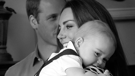 Prince George and Kate Middleton