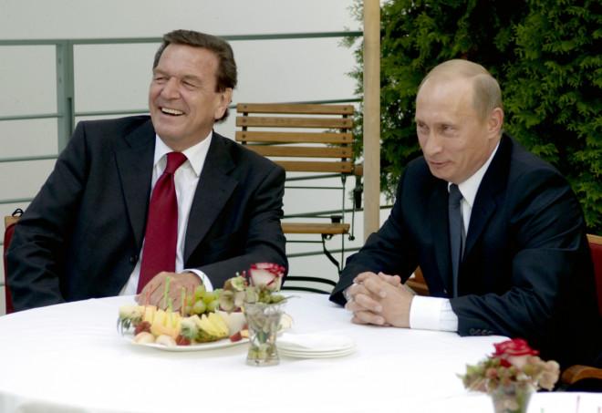 Vladimir Putin Gerhard Schroeder Photo
