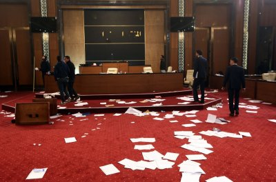 Libyan parliament stormed