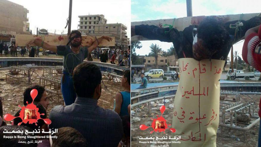 Syria Isis Jihadists Hanging Victims On Public Crucifixes