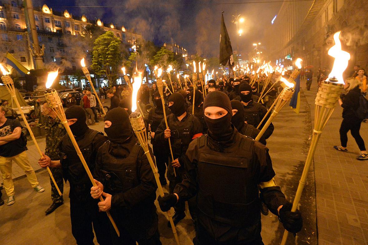 far right torches
