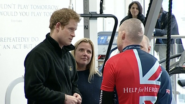 Prince Harry Supports Wounded Soldiers