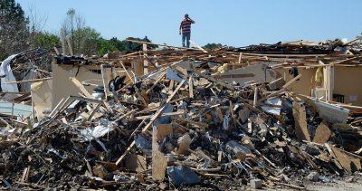 tornado wreckage