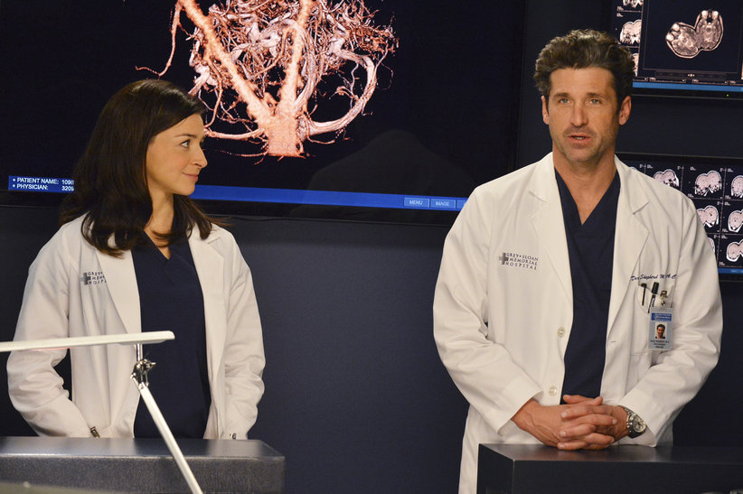 Amelia with her brother Derek Shepherd