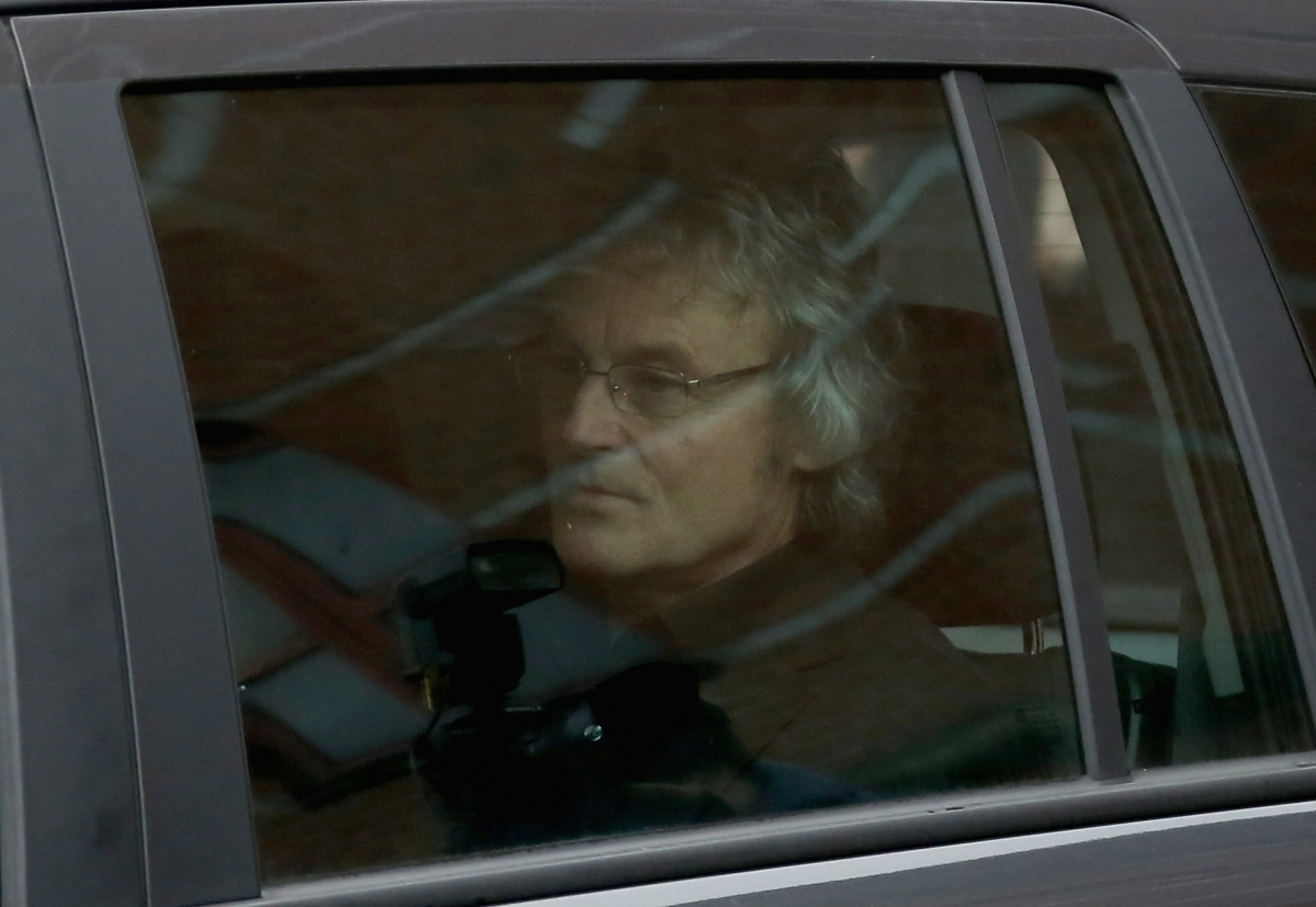 Don Magurie leaves Leeds Youth Court after seeing his wife's accused killer in the dock