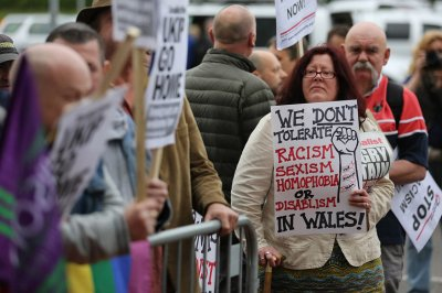swansea protesters