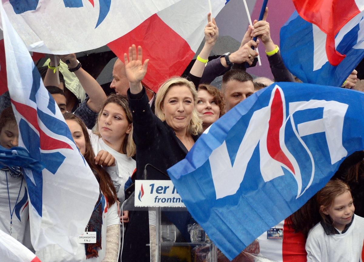 MArine Le Pen FN really May Day Paris,