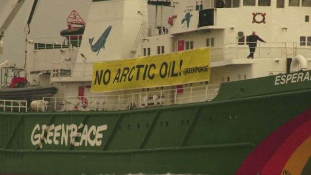 Greenpeace Try to Halt First Ever Arctic Oil Shipment