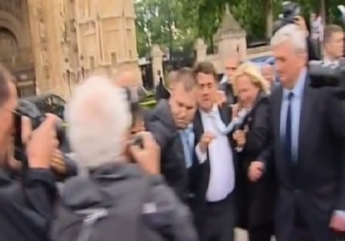 Nick Griffin egged