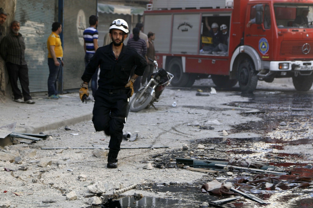 Syria Aleppo Bomb
