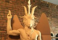 Satanic Temple Baphomet Statue Oklahoma Statehouse satanic monument lucifer