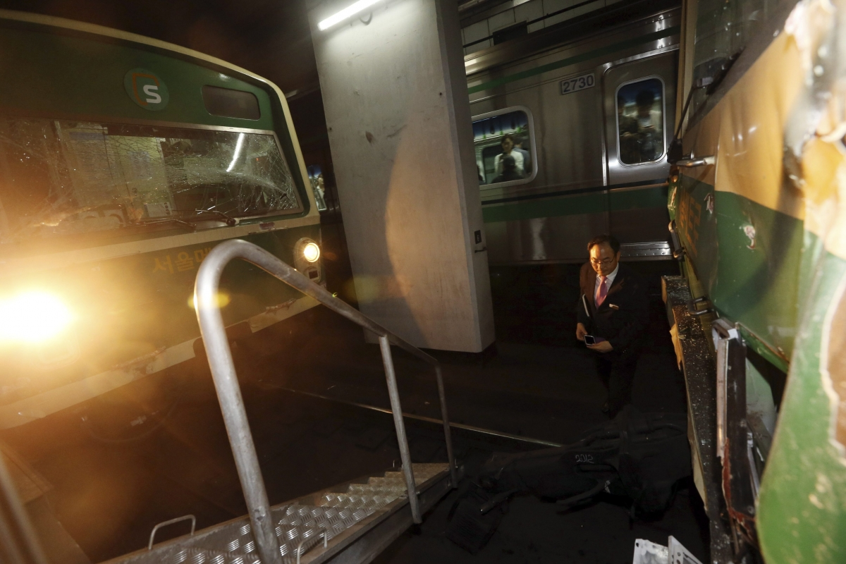 Subway Trains Crash in South Korea, 170 Hurt