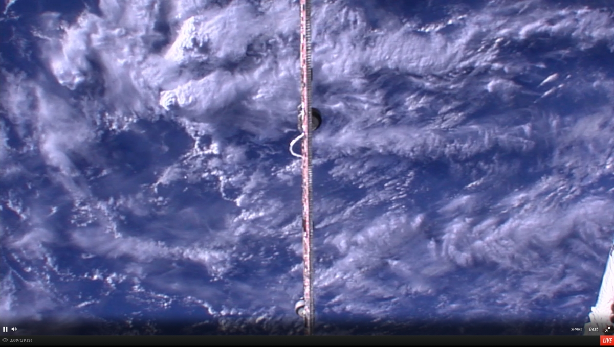 HD video feed from the International Space Station passing over the United States