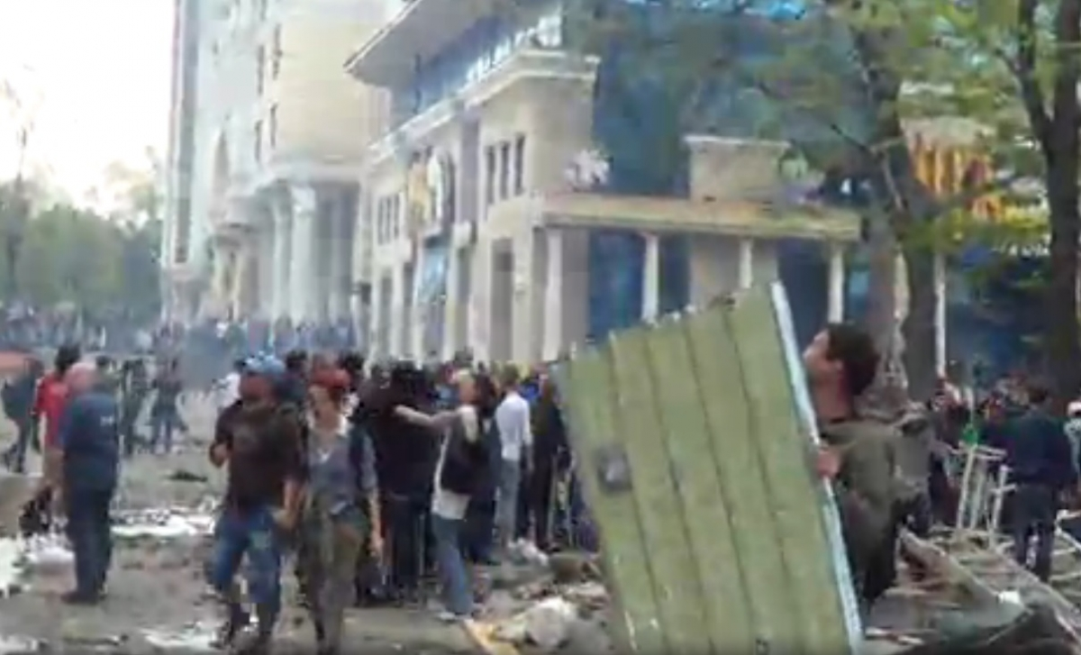 Street battle in Odessa