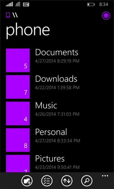 File Manager for Windows Phone 8.1