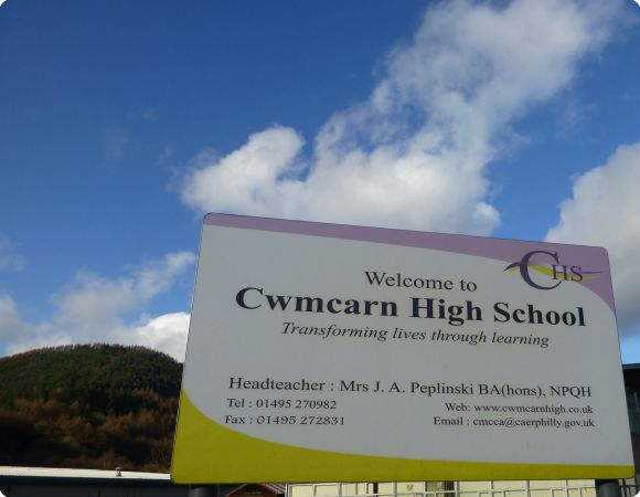 Two Cwmcarn pupils have been arrested on suspicion of plotting to kill a teacher.