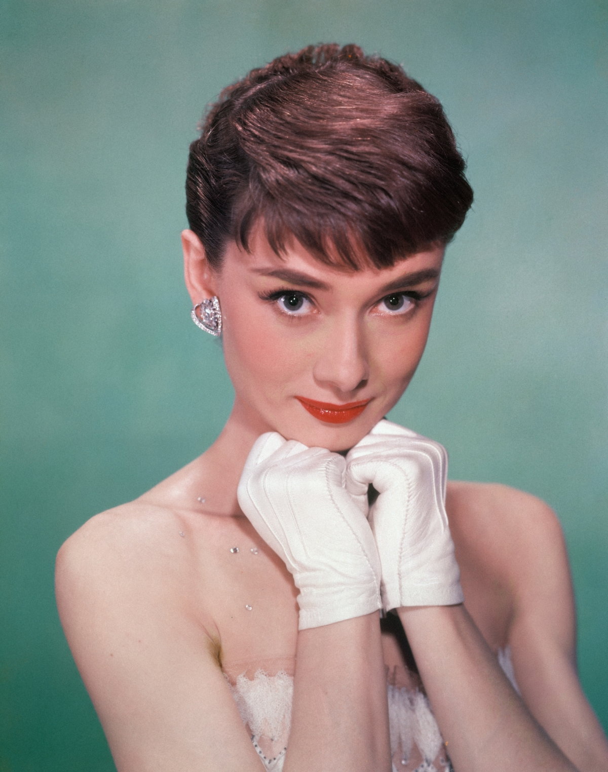 Portrait of Belgian-born American actress Audrey Hepburn (1929 - 1993)