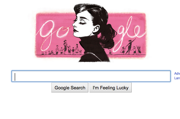 Gone but not forgotten: Google's tribute to actress Audrey Hepburn