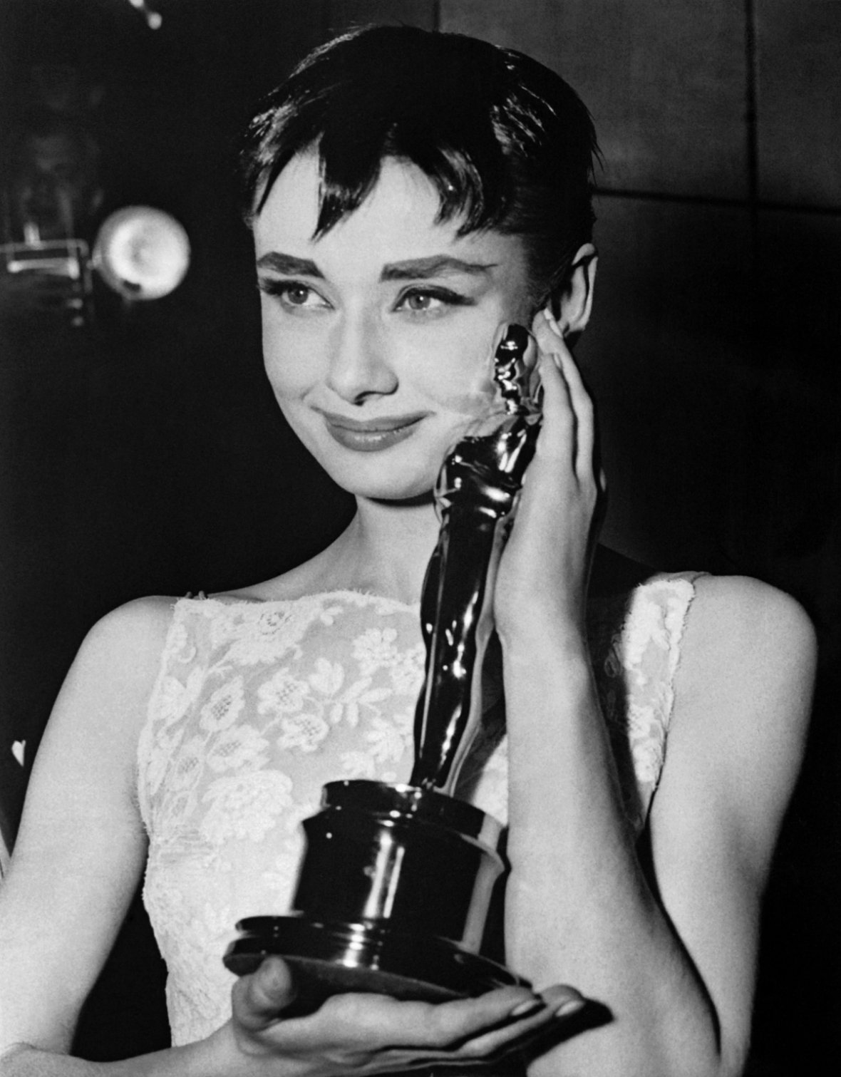 The actress Audrey Hepburn won an Oscar for her first Hollywood role in Roman Holiday