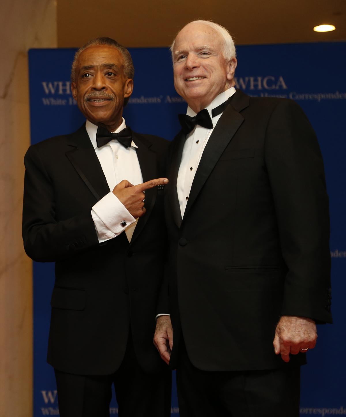 The reverend Al Sharpton and Senator John McCain