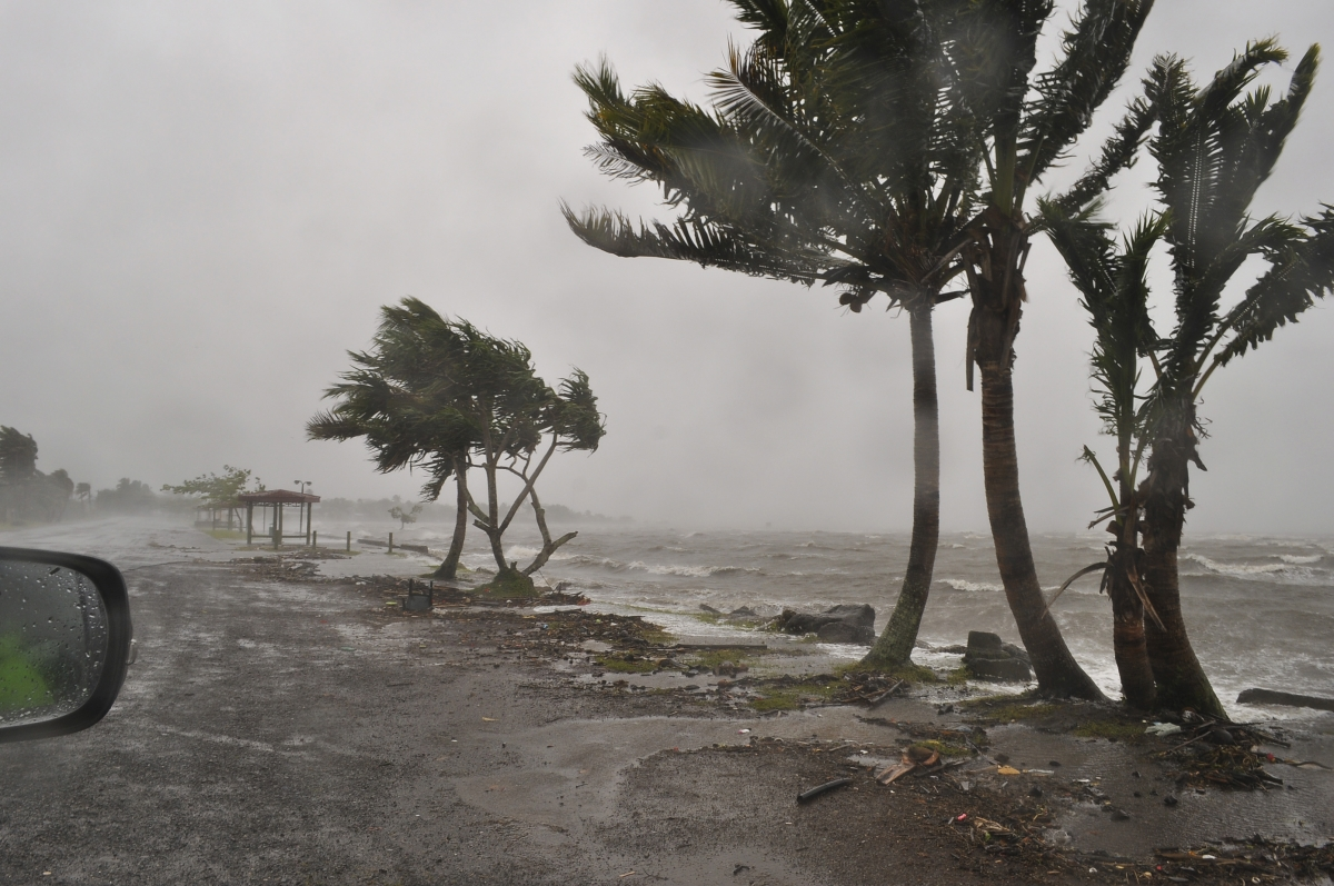 Cyclone Evan hits Suva, Fiji, in 2012.