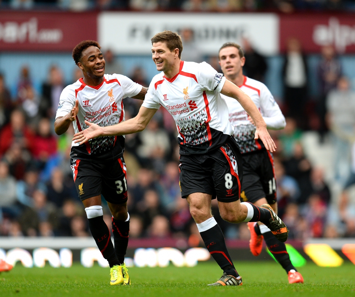 Raheem Sterling and Steven Gerrard