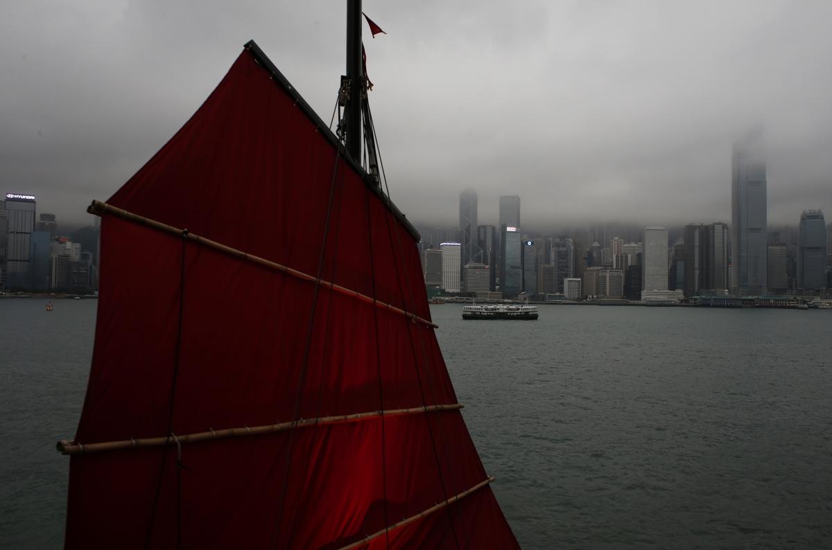 Hong Kong cargo ships collision