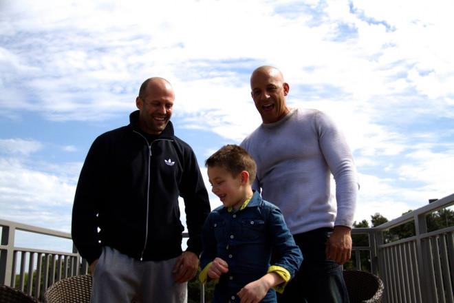 Vin Diesel with Jason Statham