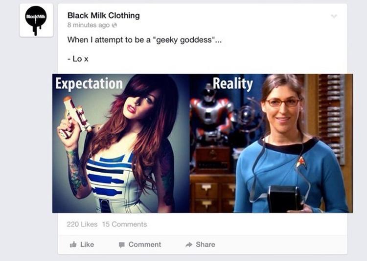 Black Milk Clothing's bad May the 4th joke