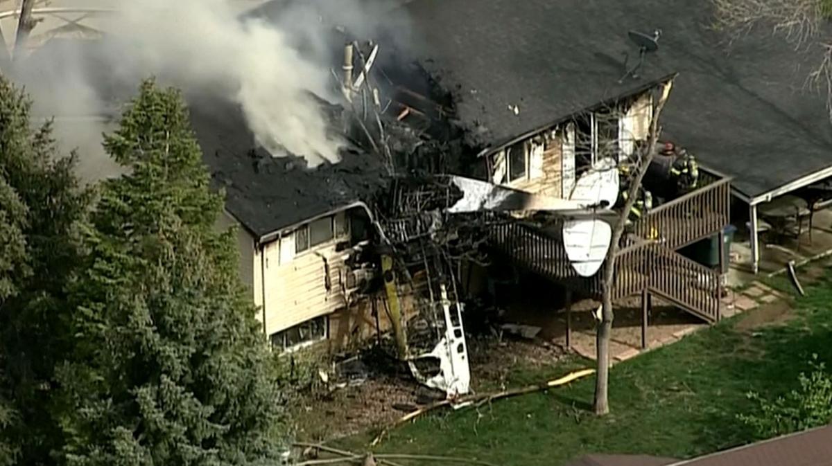 Plane Crashes Into House In Colorado