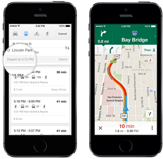 Google Maps 3.0 Offers Offline Maps, Lane Guidance, Uber Integration and More
