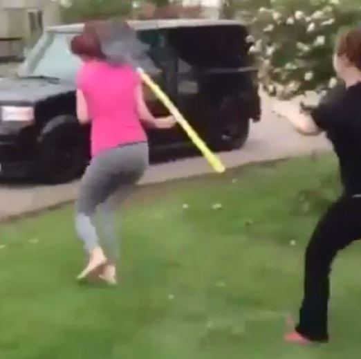 Miranda Fugate got hit on the head with a shovel.