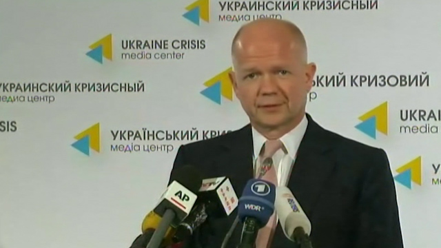 Hague: Russia Wants to 'Orchestrate Conflict'