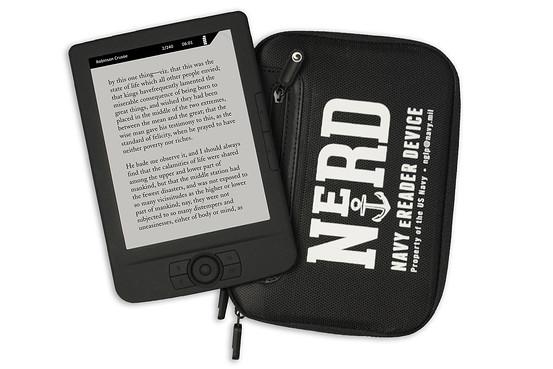 nerd e-reader navy