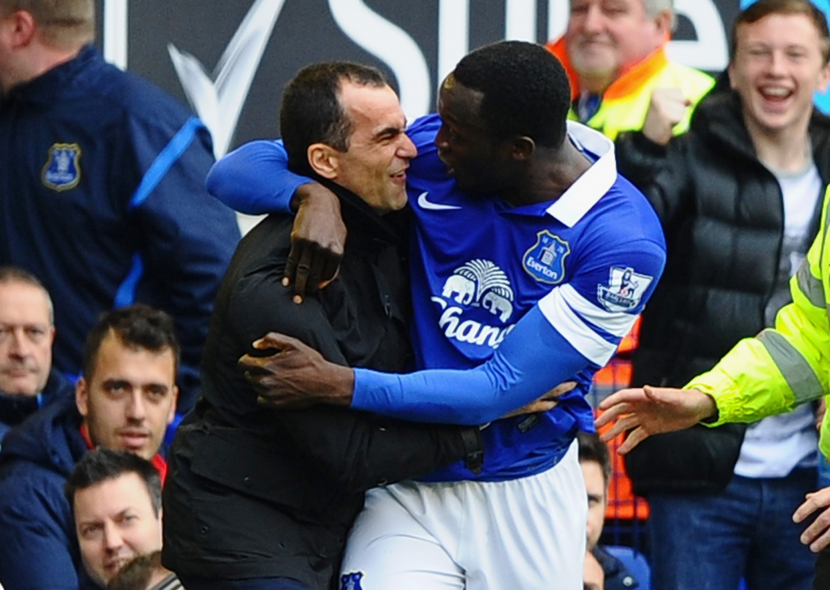 Romelu Lukaku and Roberto Martinez