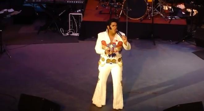 Elvis Presley impersonator Jason Baglio