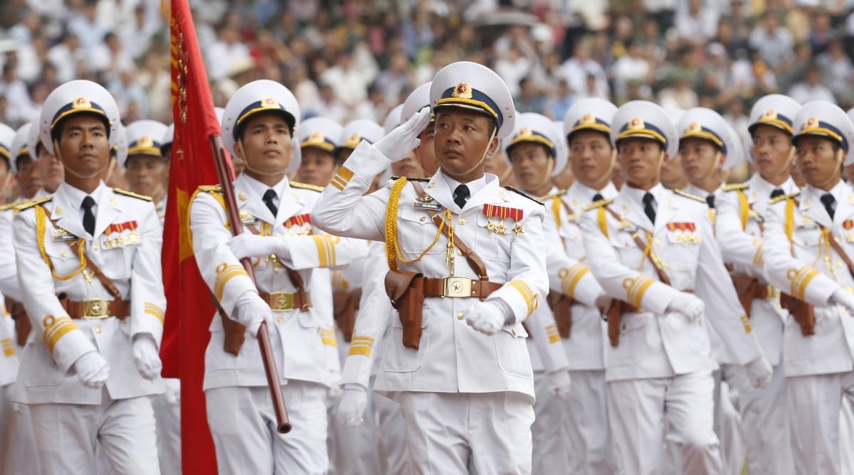Vietnam navy parade