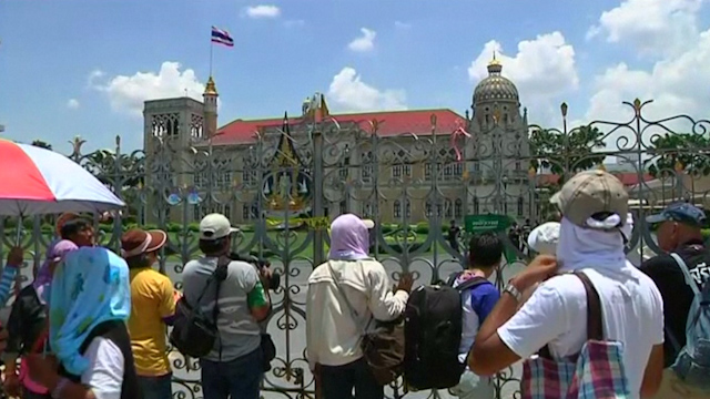 Protesters Rally Outside Thai Government House