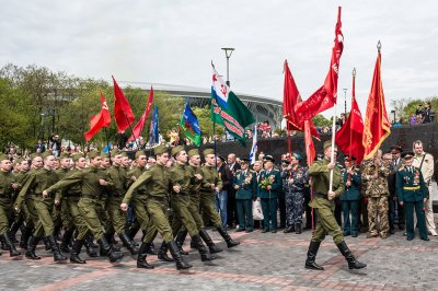 Donetsk marching